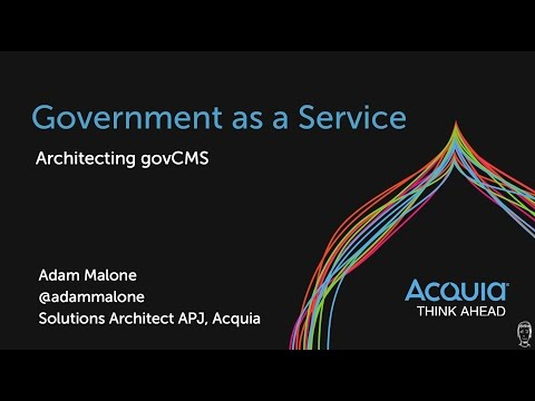 Government as a Service - architecting govCMs in Australia - presentation