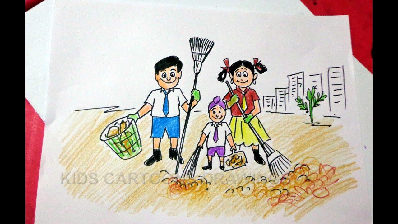 Swachh Bharat Abhiyan Drawings | www.pixshark.com - Images ...