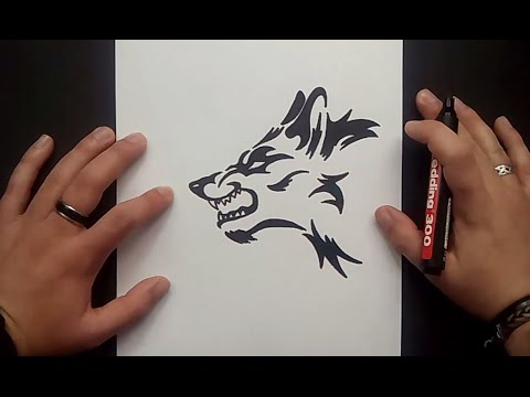 Como Dibujar Un Lobo Tribal Paso A Paso 2 How To Draw A Tribal
