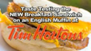 Tim Hortons - English Muffin Breakfast Sandwich Review | KBDProductionsTV