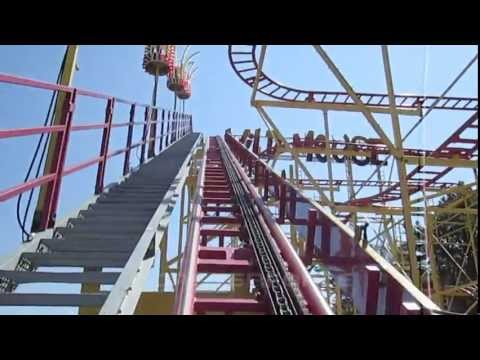Wild Mouse front seat on-ride HD POV Funtown Splashtown U.S.A.