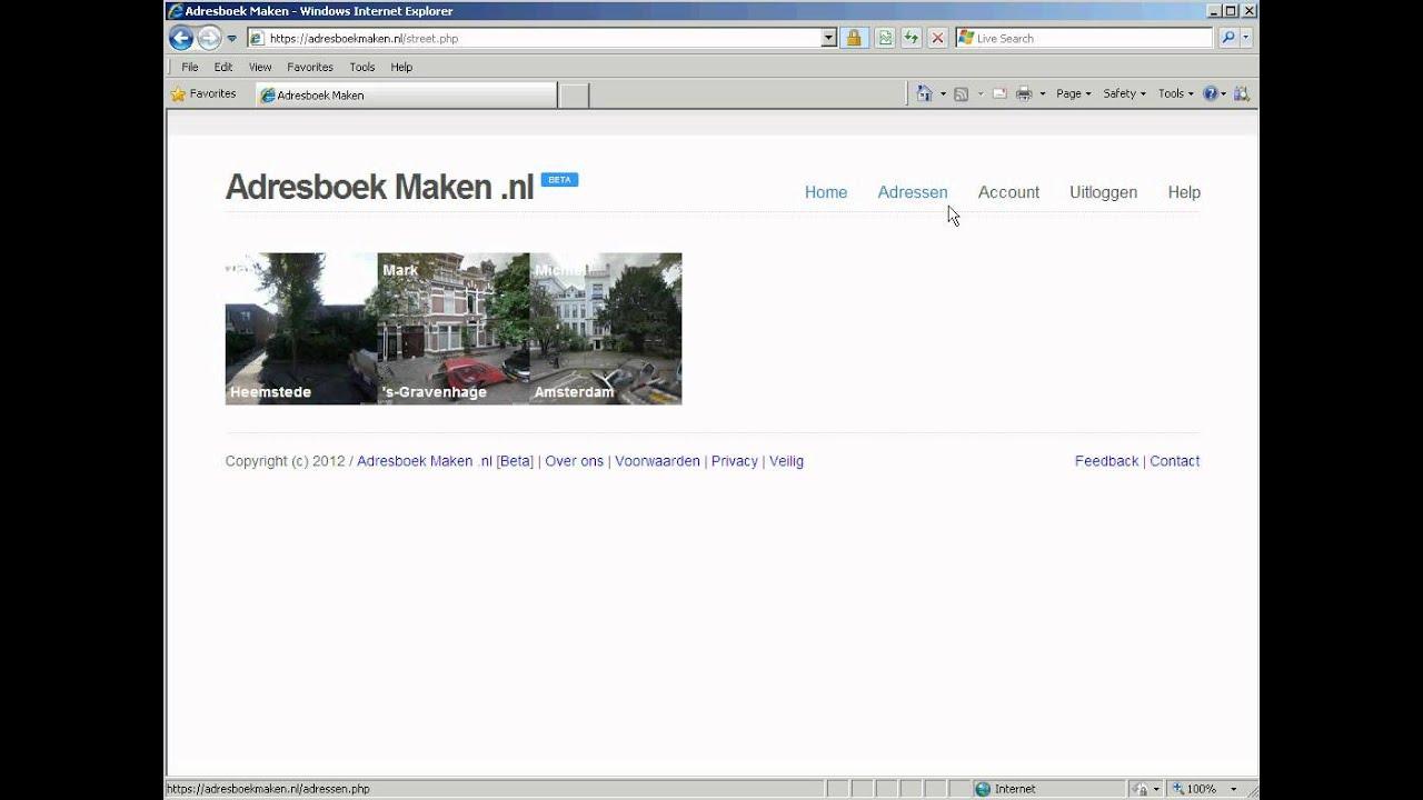 online adresboek gratis