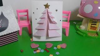 สอนทำ การ์ดคริสต์มาส ปีใหม่ การ์ดอวยพร วันแม่ ทำการ์ดง่ายๆ ep2 card christmas diy : จีน่ารีวิว