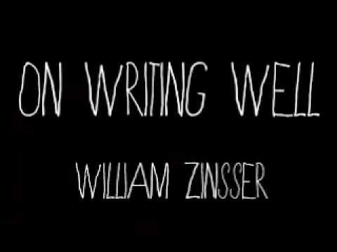 Lex Reads On Writing Well by William Zinsser