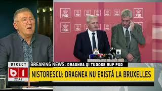TALK B1- CORNEL NISTORESCU- DRAGNEA SI TUDOSE RUP PSD, ROMANIA PIERDE  P1/2