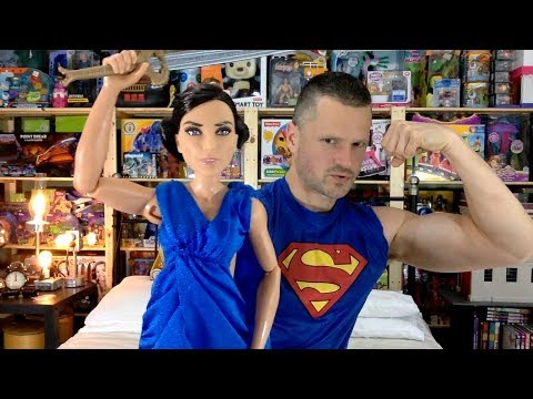 DC Wonder Woman Diana Prince & Hidden Sword Doll Mattel Unboxing Review