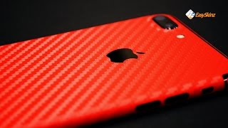 iPhone 7 PLUS - RED CARBON Fibre Skin by EasySkinz