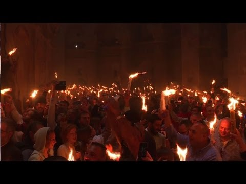 Orthodox Christians celebrate 'holy fire' in Jerusalem