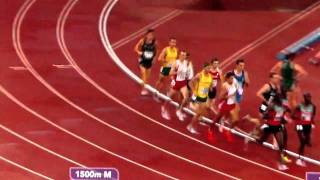 Silas Kiplagat fr Kenya Breaking World record in 1500m Commonwealth 2010