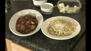 Chicken Marsala Easy Italian Dinner Recipe Served With Linguine With Garlic And Olive Oil
