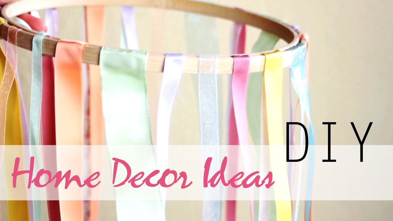 Diy 3 easy summer home decor ideas youtube for How to make home decorations
