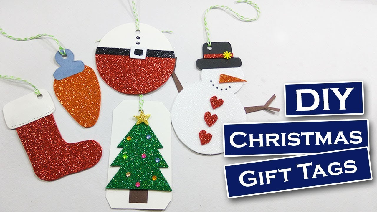 Diy 5 easy christmas tags foam sheet craft diy gift for Foam sheet christmas crafts