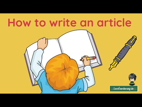 How to write an ✅ article - best practice