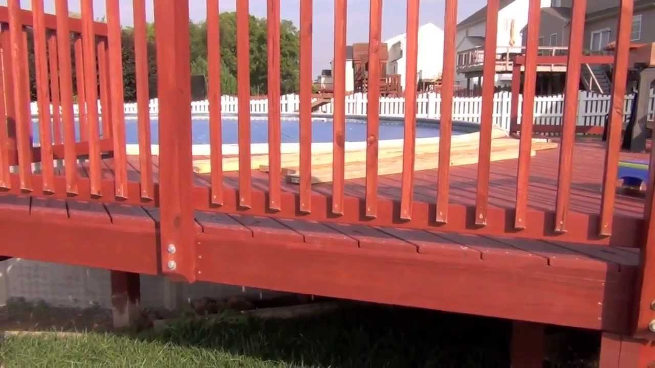 Pool Deck Building Hanging Balusters Youtube