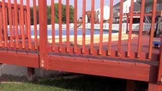 Pool Deck Building: Hanging Balusters
