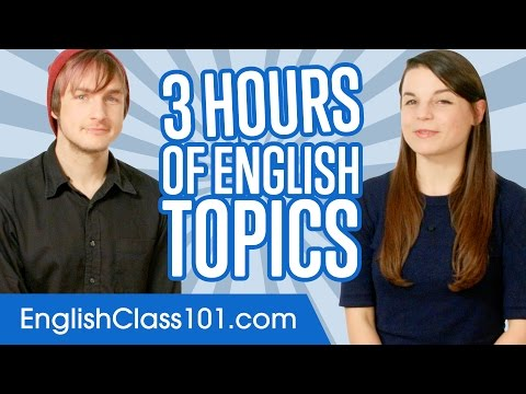 Learn English in 3 Hours - ALL You Need to Master English Conversation