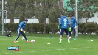 Тренировка сборной России перед матчем с Бельгией