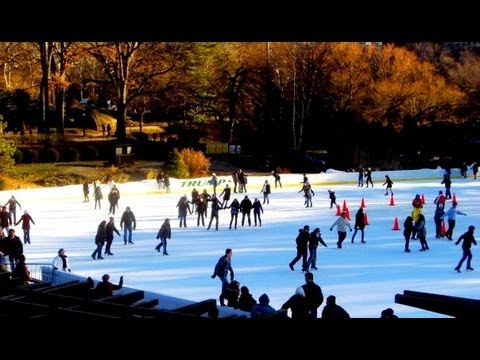 New York City - Ice Skating at Central Park Manhattan New York USA
