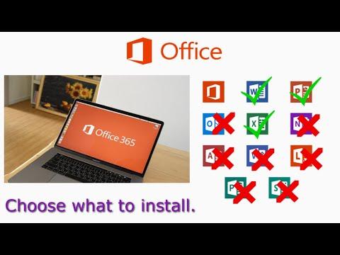 Office 365 Custom Installation Using Office Deployment Tool 2018 - Install Specific Office Apps