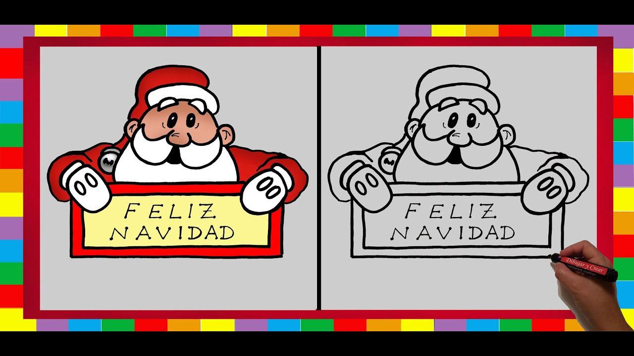 Especial navidad n 4 como dibujar papa noel feliz - Un santa claus especial ...