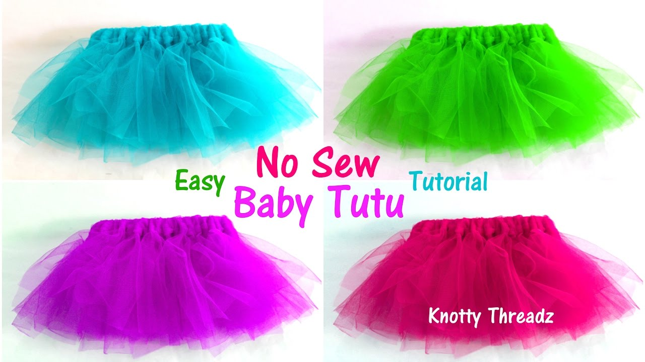 Tutu Skirts How To Make A No Sew Tutu For Babies Easy