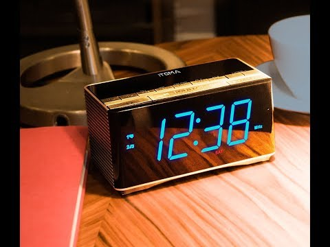 iTOMA Bluetooth Speakers with Alarm Clock Radio