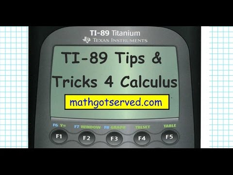 Ti89 Skills For Calculus Tricks And Tips Derivatives