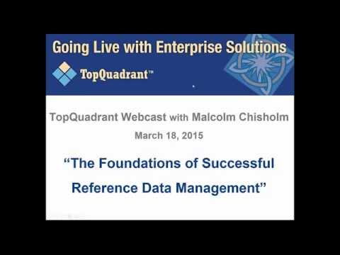 Webinar: The Foundations of Successful Reference Data Management – with Malcolm Chisholm