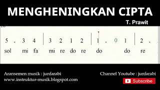 not angka mengheningkan cipta - do = C Mayor - lagu wajib nasional - doremi solmisasi