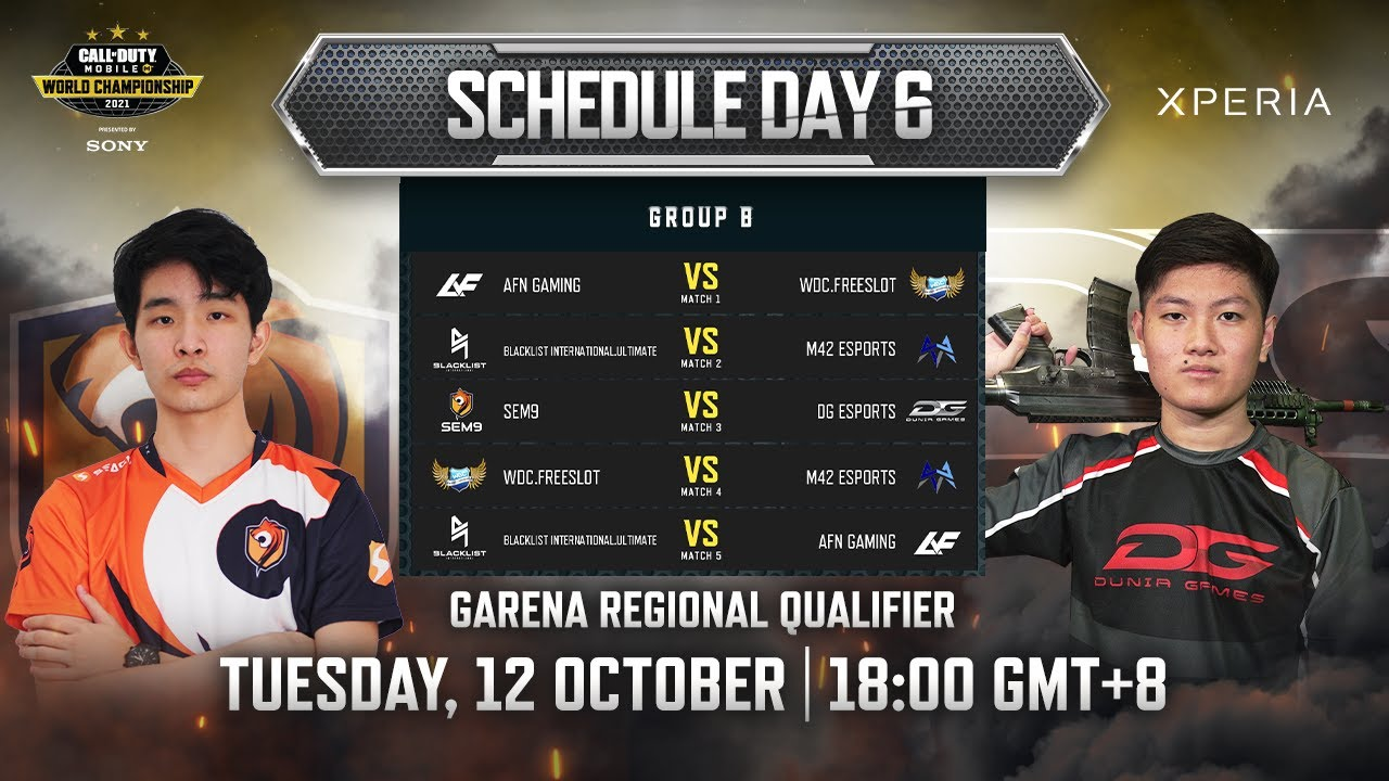 CODM World Championship 2021 Presented by Sony - Garena Regional Qualifier - Group Stage Day 6