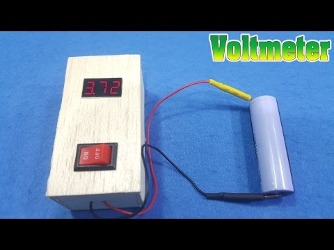 How to make a mini Voltmeter