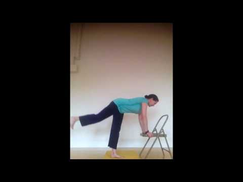 SunLight Chair Yoga: yoga is for everyone! Balancing Warrior Pose from DVD