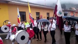 Desfile 20 de julio Choachí Cundinamarca inicio desfile
