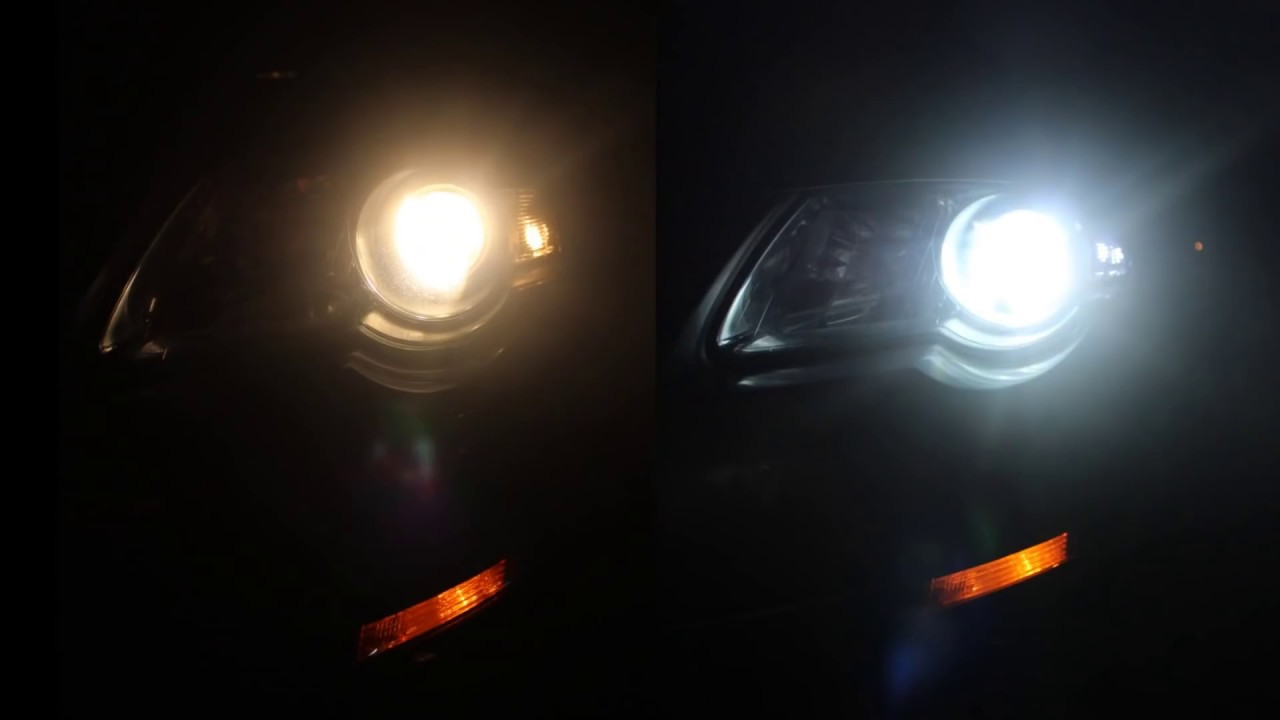 Halogen Light Vs Led >> HID 6000k vs Halogen - YouTube