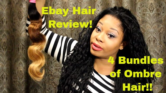 Ebay Hair Review 4 Bundles Of Ombre Hair Youtube