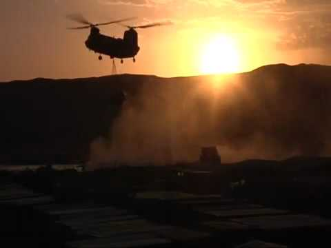 Chinook by Sunset in Sangin
