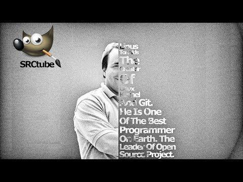 Text Portrait Of Linus Torvalds - GIMP Tutorial thumbnail