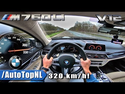BMW 7 Series M760Li 320km/h!! AUTOBAHN POV Acceleration & TOP SPEED by AutoTopNL