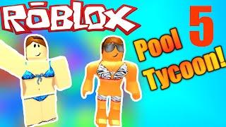 [ROBLOX: pool Tycoon 4]-Lets Play EP 5-LAZY RIVER fixo! Nova área de hangout!
