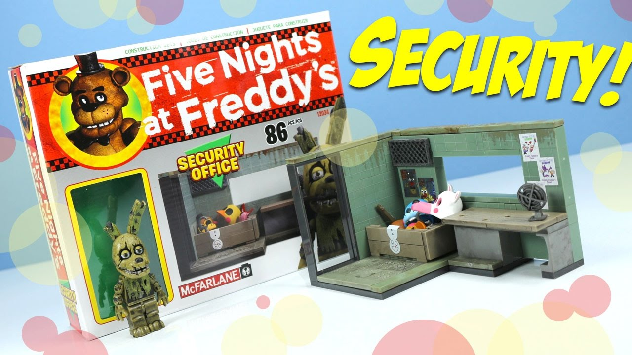 More five nights at freddy s construction sets coming soon - Five Nights At Freddy S 3 Security Office With Springtrap Mcfarlane Construction Sets Youtube