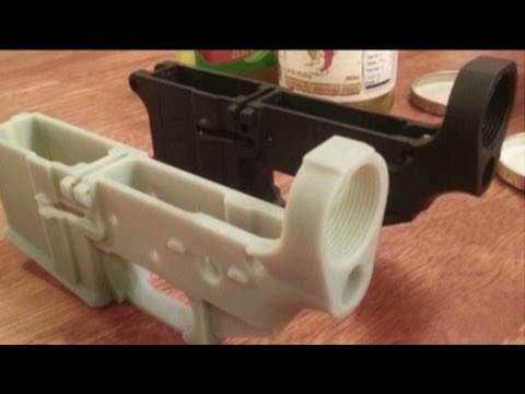 Can a 3d printer make guns youtube for Made with 3d printer