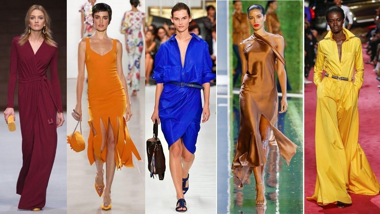 Главные модные цвета одежды Тренды весна-лето 2019 / Pantone