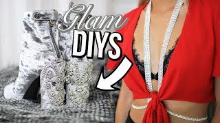 AMBER SCHOLL DIYS TESTED! Crystal Bra & Designer Shoes
