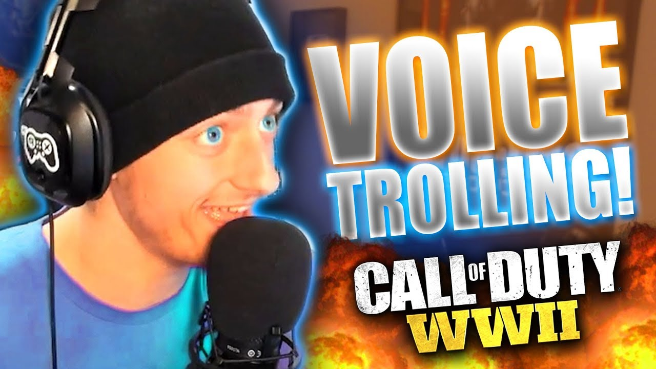 VOICE CHANGER vs WHEEZING OLD MAN on WW2! *Funny Reactions*