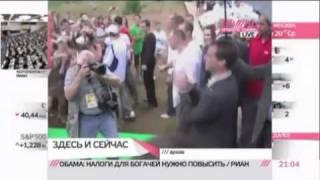Медведев рассказал о своем танце с Мартиросяном(Сегодня в интернете появился очередной хит: танец Дмитрия Медведева в компании шоумена Гарика Мартиросяна..., 2011-05-04T05:57:18.000Z)