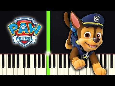 Paw Patrol Theme Song Easy Piano Tutorial Sheet Music By