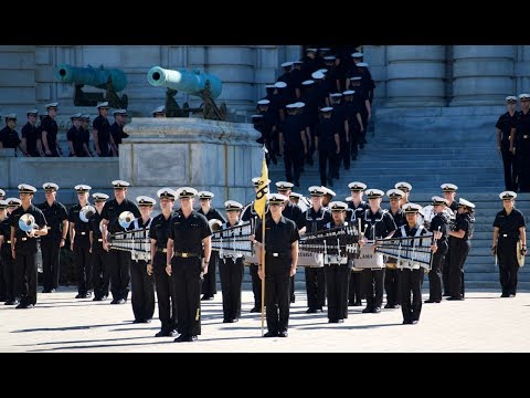 Naval Academy Noon Meal Formation In 4k UHD
