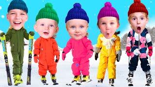 Five Kids Winter Song Nursery Rhymes