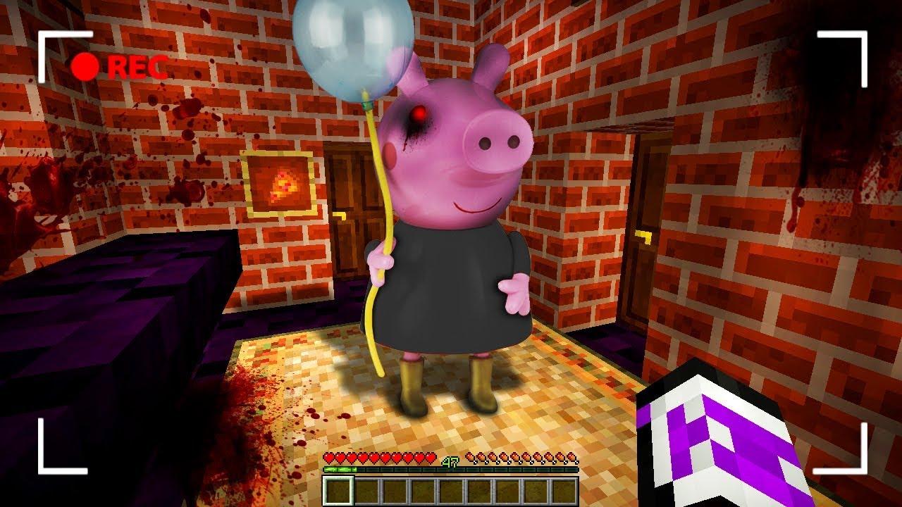 APARECE PEPPA PIG EXE EN MI CASA  MINECRAFT TROLL