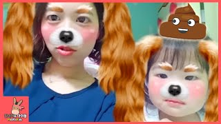 신기한 어플 스노우 앱 놀이 ♡ 귀여운 고양이 강아지 여우 양 동물 변신 Fun Snow Face Changing | 말이야와아이들 MariAndKids